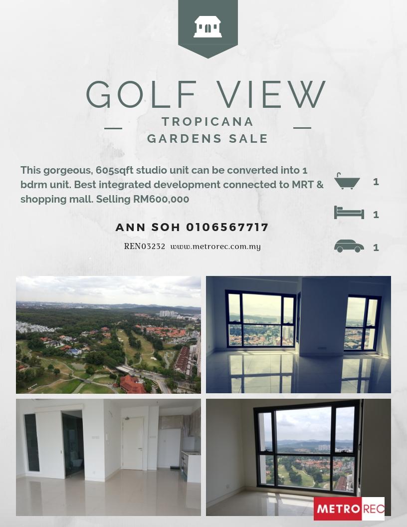 Tropicana Gardens studio unit for sale