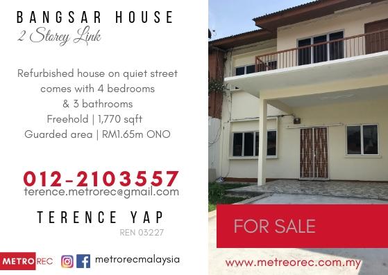 2-storey terrace house for sale @ Bangsar