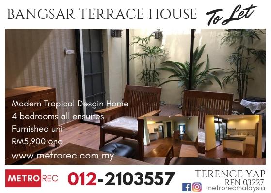 Modern Designed house to let in Bangsar