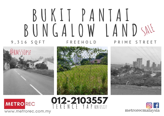 Bungalow land for sale @ Bukit Pantai, Bangsar