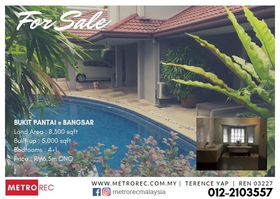 Freehold house for sale @ Bukit Pantai, Bangsar
