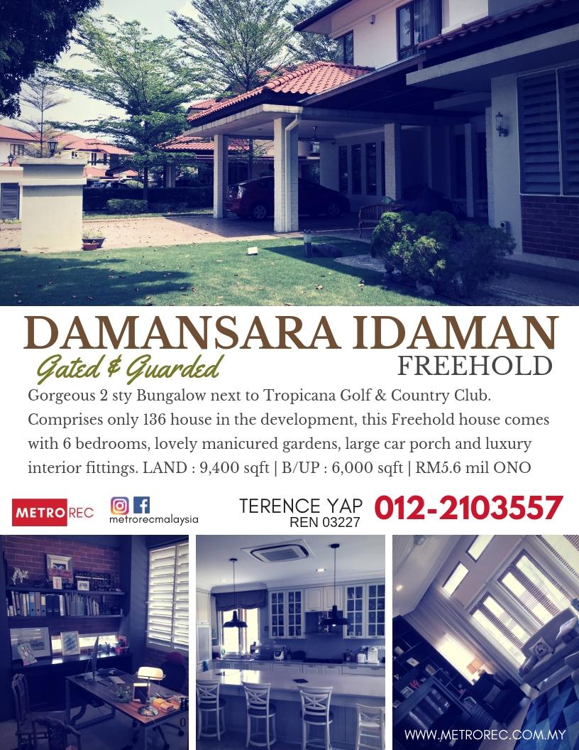 Gorgeous bungalow house for sale @ Damansara Idaman