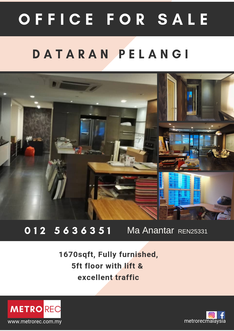 Dataran Pelangi Petaling Jaya, office for sale