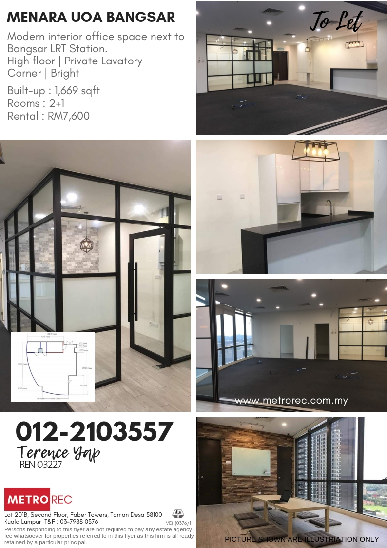 Menara UOA Bangsar office space To Let