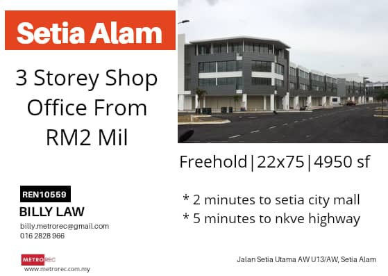 3-storey shopoffice for sale from RM2mill