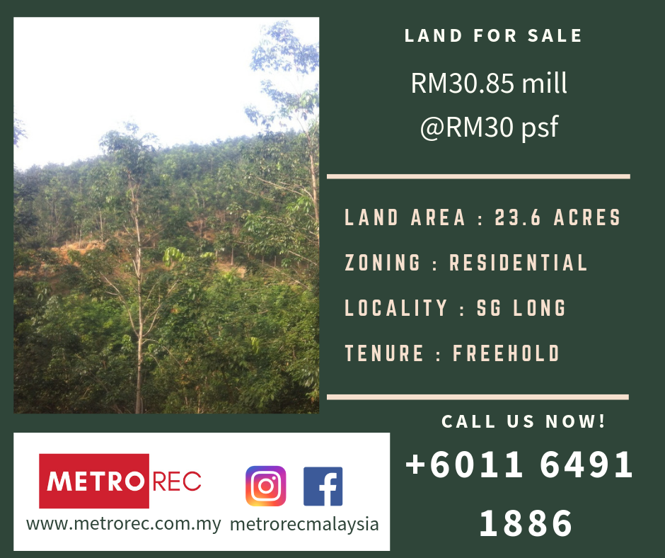 Freehold land for sale @ Sg Long, Kajang